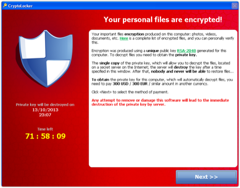 CryptoLocker: threatening to encrypt the IT industry, and they're not giving you the key
