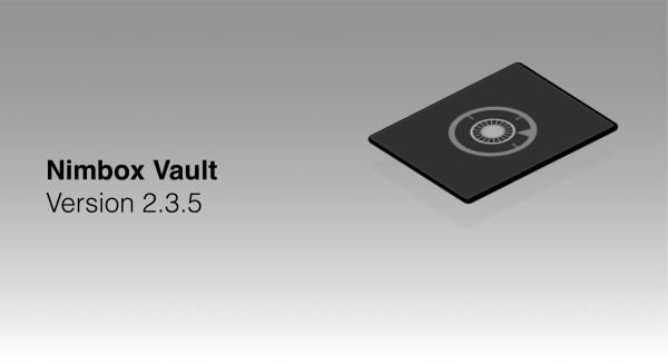 Nimbox Vault Version 2.3.5