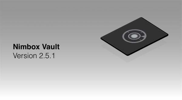 Nimbox Vault Version 2.5.1