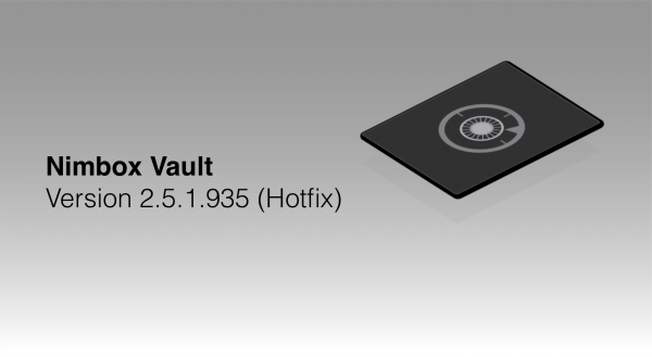 Nimbox Vault Version 2.5.1.935 (Hotfix)