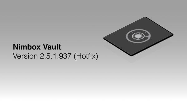 Nimbox Vault Version 2.5.1.937