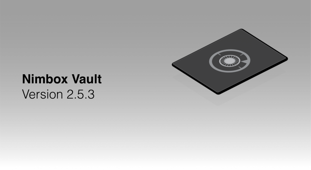 Nimbox Vault Version 2.5.3