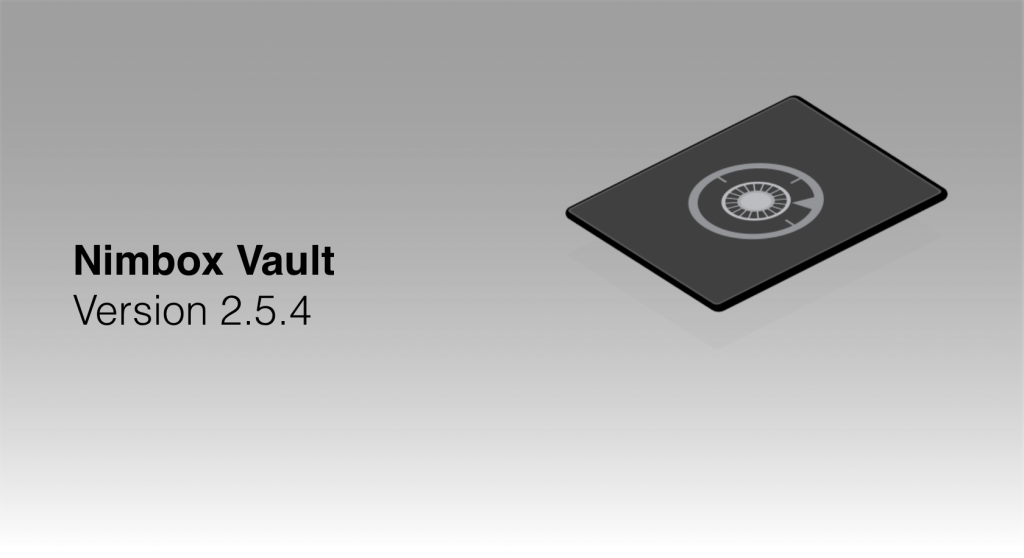Nimbox Vault Version 2.5.4