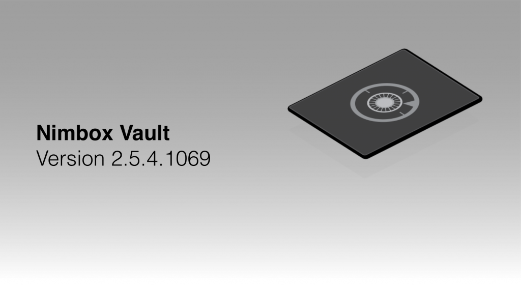 Vault 2.5.4.1069 — Release Notes