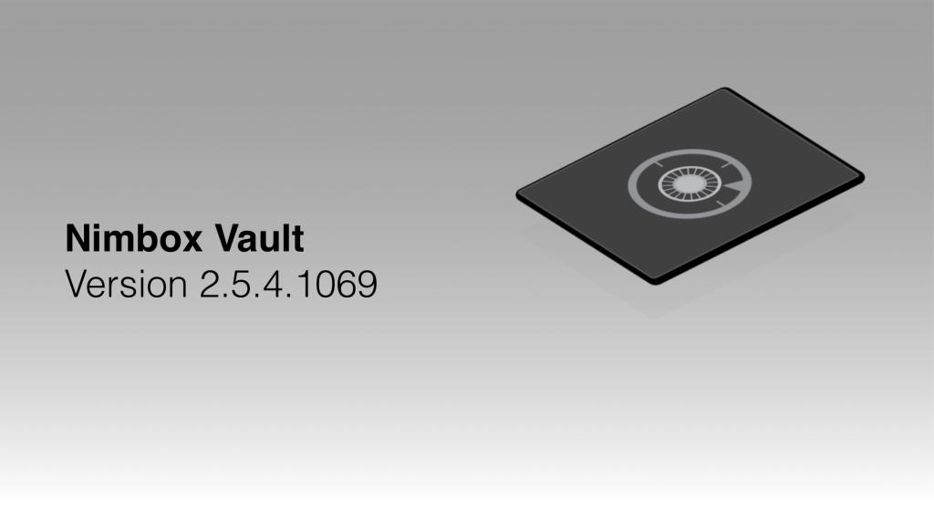 Vault 2.5.4.1069 — Release Notes