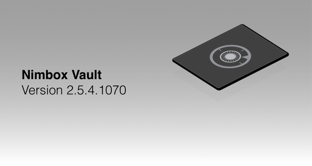 Vault 2.5.4.1070 — Release Notes