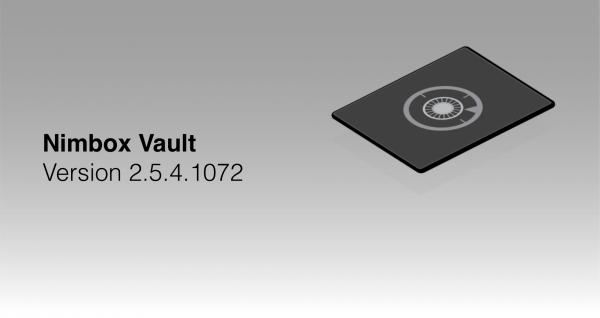 Nimbox Vault Version 2.5.4.1072