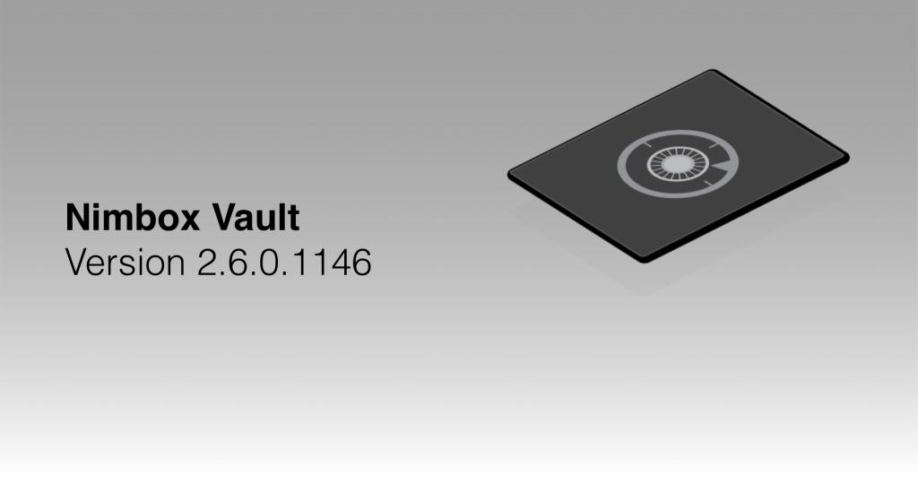 Nimbox Vault Version 2.6.0.1146