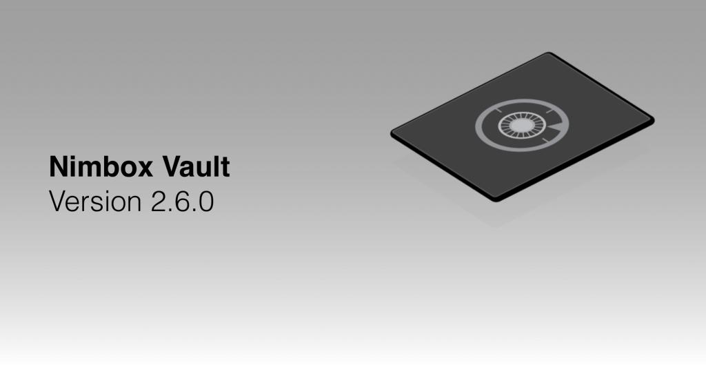 Nimbox Vault Version 2.6.0