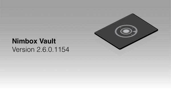Nimbox Vault Version 2.6.0.1154
